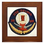 USS DELONG Framed Tile