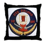 USS DELONG Throw Pillow