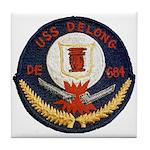 USS DELONG Tile Coaster
