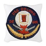 USS DELONG Woven Throw Pillow