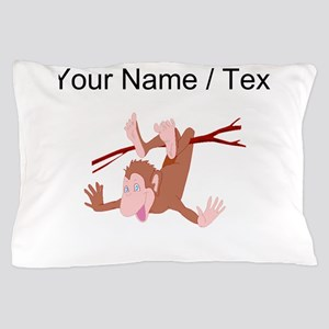 Custom Chimp Hanging From Branch Pillow Case