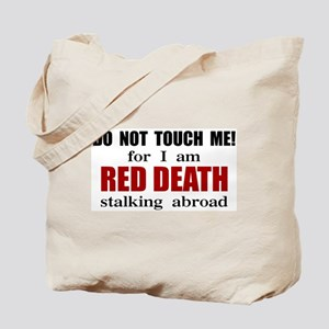 Red Death Stalking Abroad Tote Bag