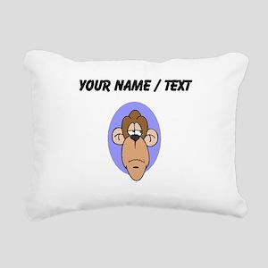 Custom Chimp Face Rectangular Canvas Pillow