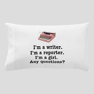 pinktypewriterback Pillow Case