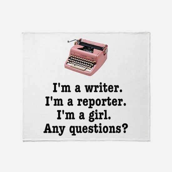 pinktypewriterback.jpg Throw Blanket