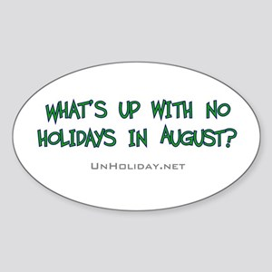 No August Holidays 02 Oval Sticker