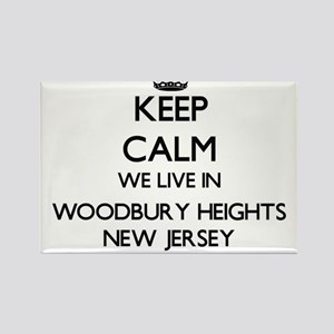 Keep calm we live in Woodbury Heights New Magnets