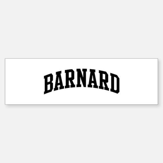 BARNARD (curve-black) Bumper Bumper Bumper Sticker