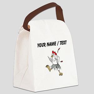 Custom Chicken Dancing Canvas Lunch Bag