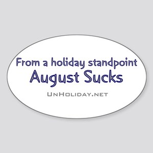 No August Holidays 03 Oval Sticker