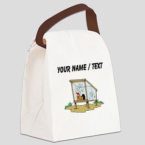 Custom Chicken Coop Canvas Lunch Bag