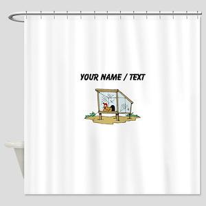 Custom Chicken Coop Shower Curtain