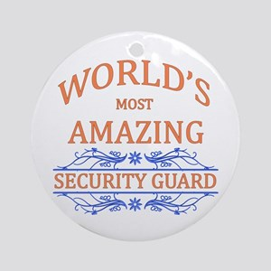 Security Guard Ornament (Round)