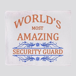 Security Guard Throw Blanket