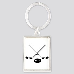 Hockey Sticks Keychains
