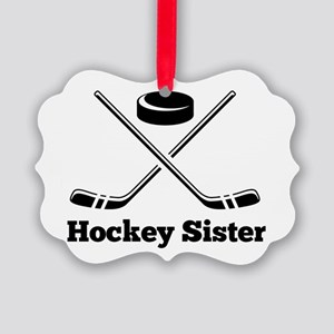 Hockey Sister Picture Ornament