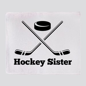 Hockey Sister Throw Blanket
