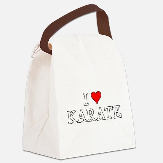 I Love Karate Canvas Lunch Bag