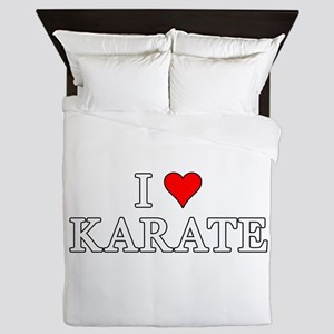 I Love Karate Queen Duvet