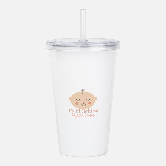 Cute Baby%27s first christmas Acrylic Double-wall Tumbler