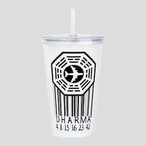 Dharma Initiative Bar-code Acrylic Double-wall Tum
