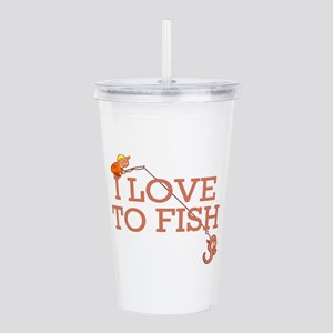 3-love to fisf Acrylic Double-wall Tumbler