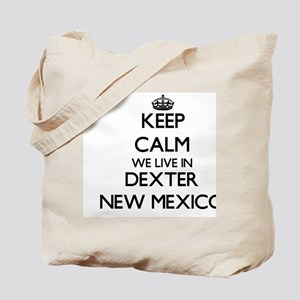 Keep calm we live in Dexter New Mexico Tote Bag