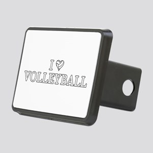I Love Volleyball Rectangular Hitch Cover