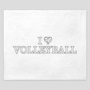 I Love Volleyball King Duvet