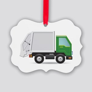 Garbage Truck Picture Ornament