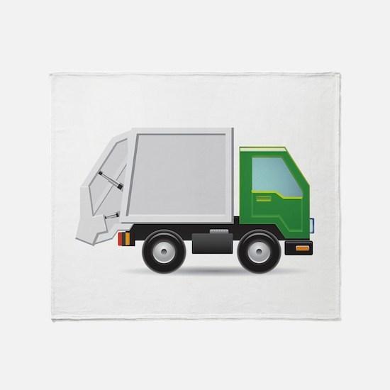Garbage Truck Throw Blanket