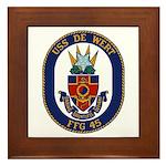 USS DE WERT Framed Tile