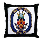 USS DE WERT Throw Pillow