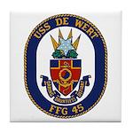 USS DE WERT Tile Coaster