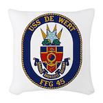 USS DE WERT Woven Throw Pillow