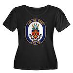 USS DE W Women's Plus Size Scoop Neck Dark T-Shirt
