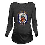 USS DE WERT Long Sleeve Maternity T-Shirt