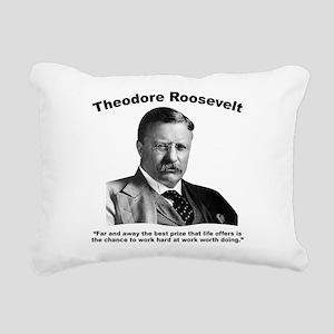 TRoosevelt: Work Rectangular Canvas Pillow