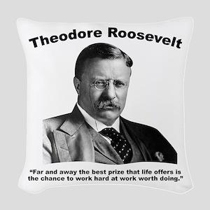 TRoosevelt: Work Woven Throw Pillow
