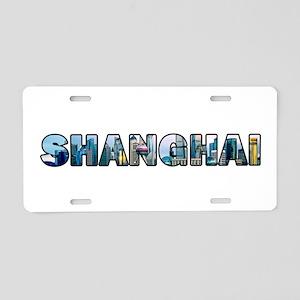 Shanghai China Skyline Aluminum License Plate