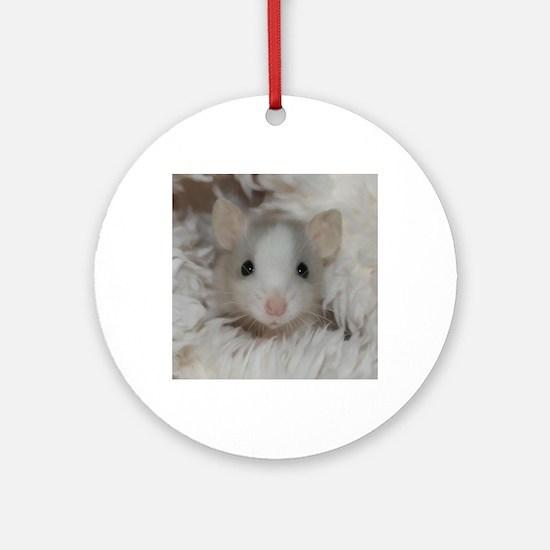 Funny Rat Round Ornament
