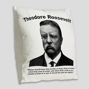 TRoosevelt: Women Burlap Throw Pillow