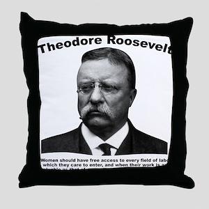 TRoosevelt: Women Throw Pillow