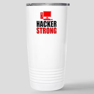 Hacker Strong Travel Mug