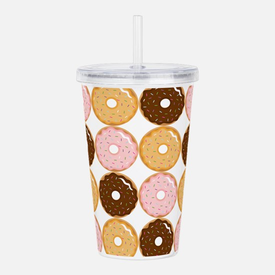 Frosted Donut Pattern Acrylic Double-wall Tumbler