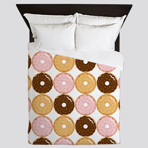 Frosted Donut Pattern Queen Duvet
