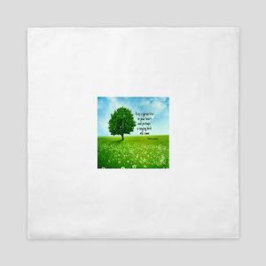 Keep A Green Tree Queen Duvet
