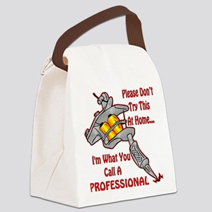 Don't Try This At Home Canvas Lunch Bag