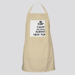 Keep calm we live in Albany New York Apron