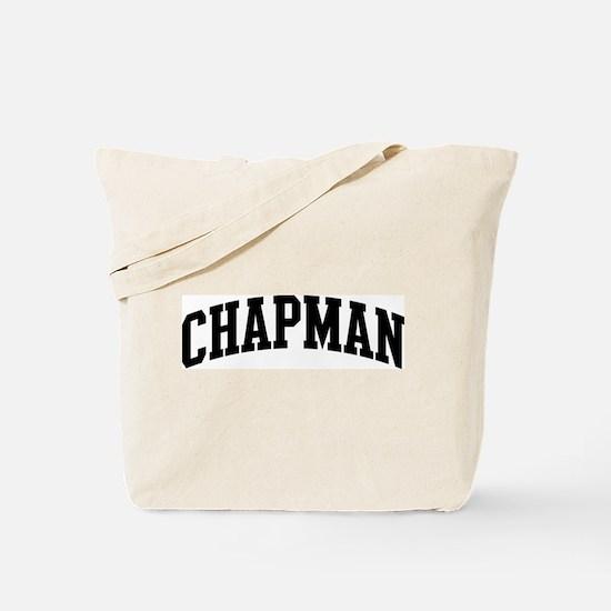 CHAPMAN (curve-black) Tote Bag
